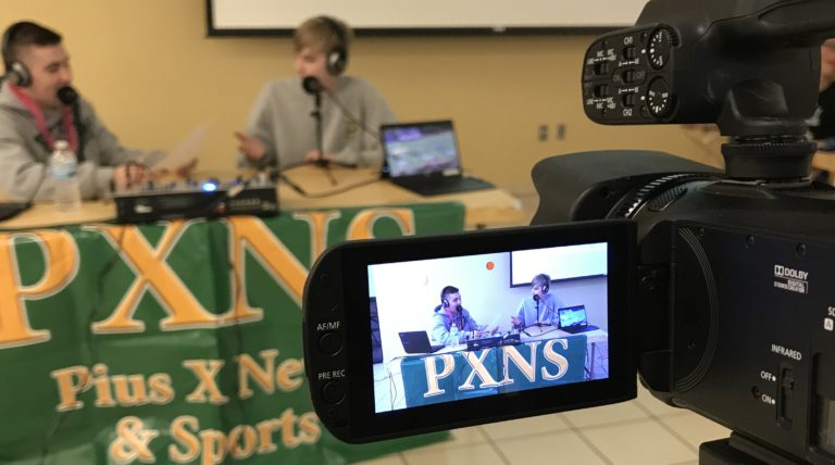 PXNS crew broadcast live from New Student Orientation 2018