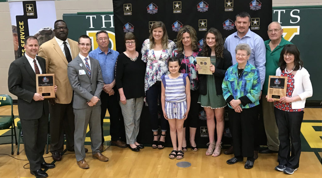 kloee sander us army pro football hall of fame award for excellence