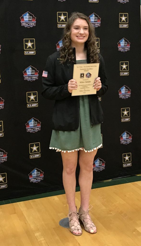 kloee sander U.S. Army-Pro Football Hall of Fame Award for Excellence
