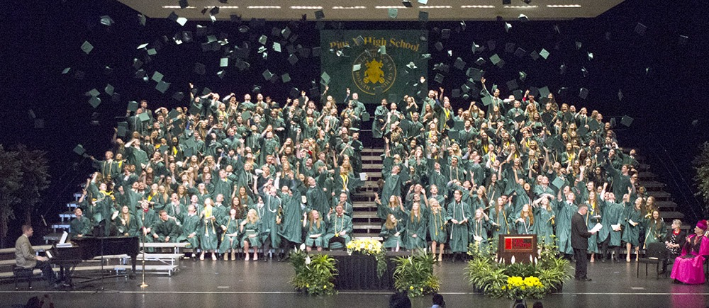 pius x catholic high school graduation