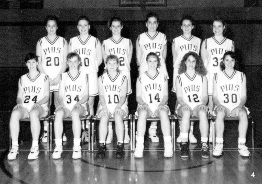 1992 Girls Basketball pius x athletics hall of fame