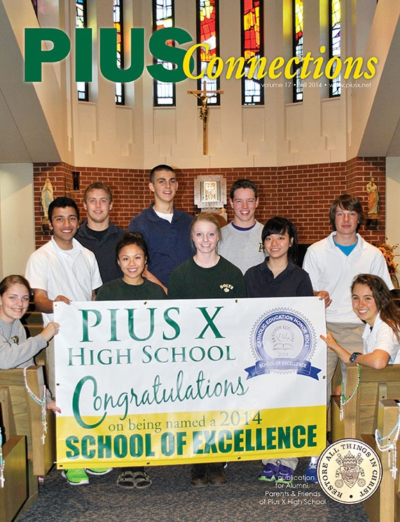Pius x high school connections magazine