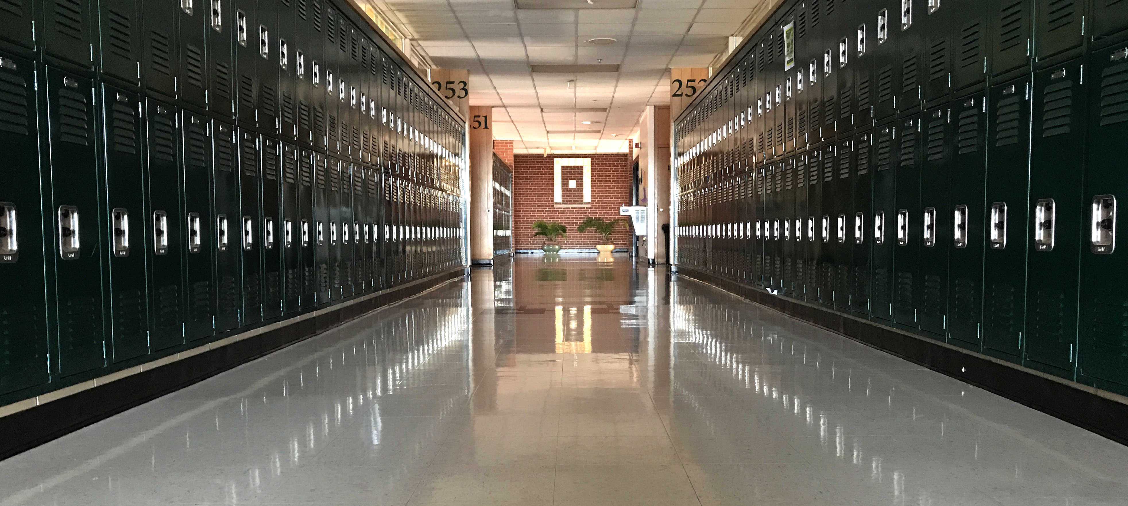 hallway at pius x high school