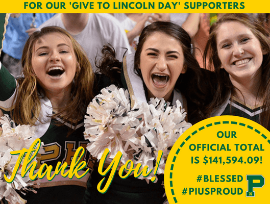 Give to lincoln day thank you