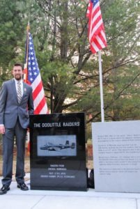 Daniel Robertson and Doolittle Raiders Monument
