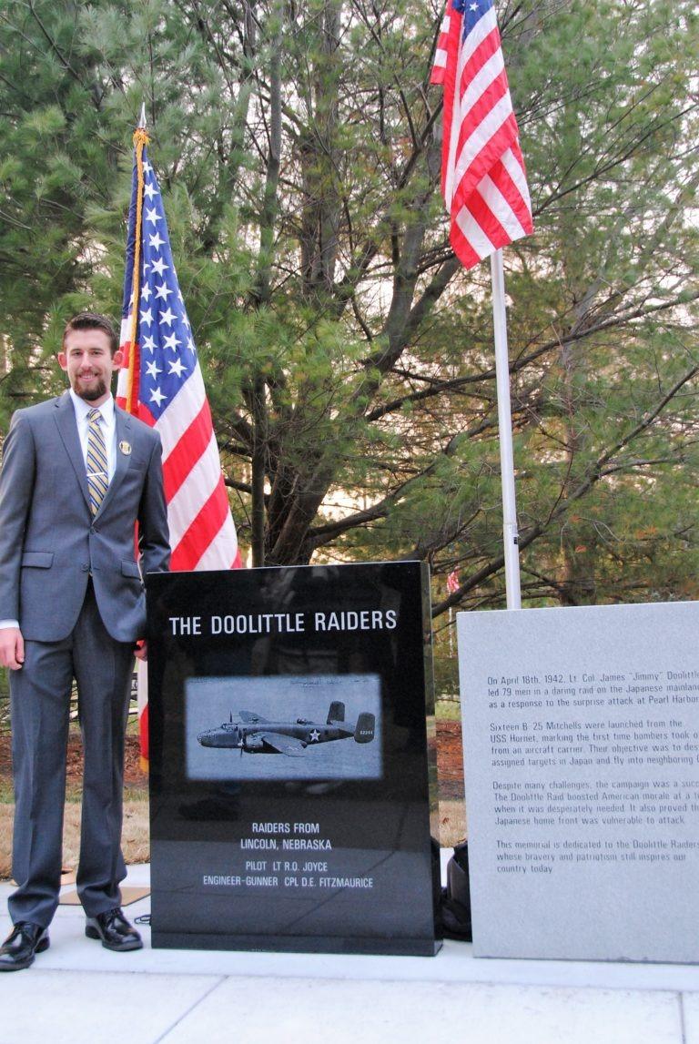 Daniel Robertson and Doolittle Raiders Monument