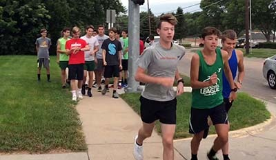 Summer running at Pius X High School cross country