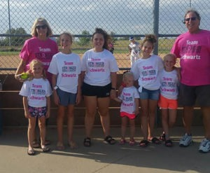 softball pink out awareness game