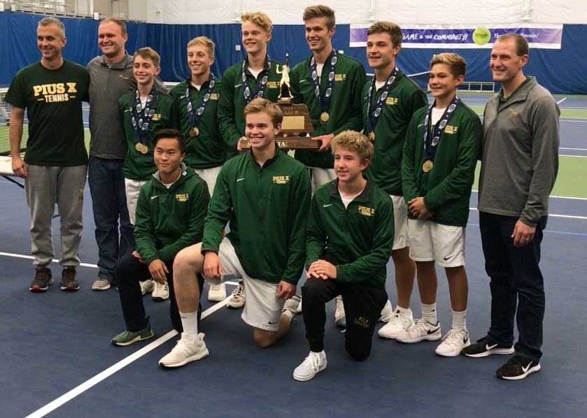 pius x thunderbolts boys tennis