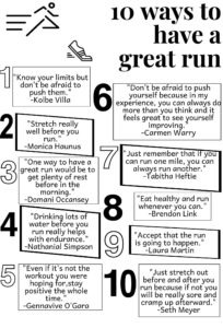 10 ways for a great run