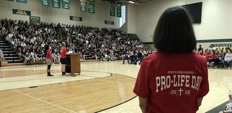 pro life school assembly t-shirt