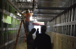 construction update hallway