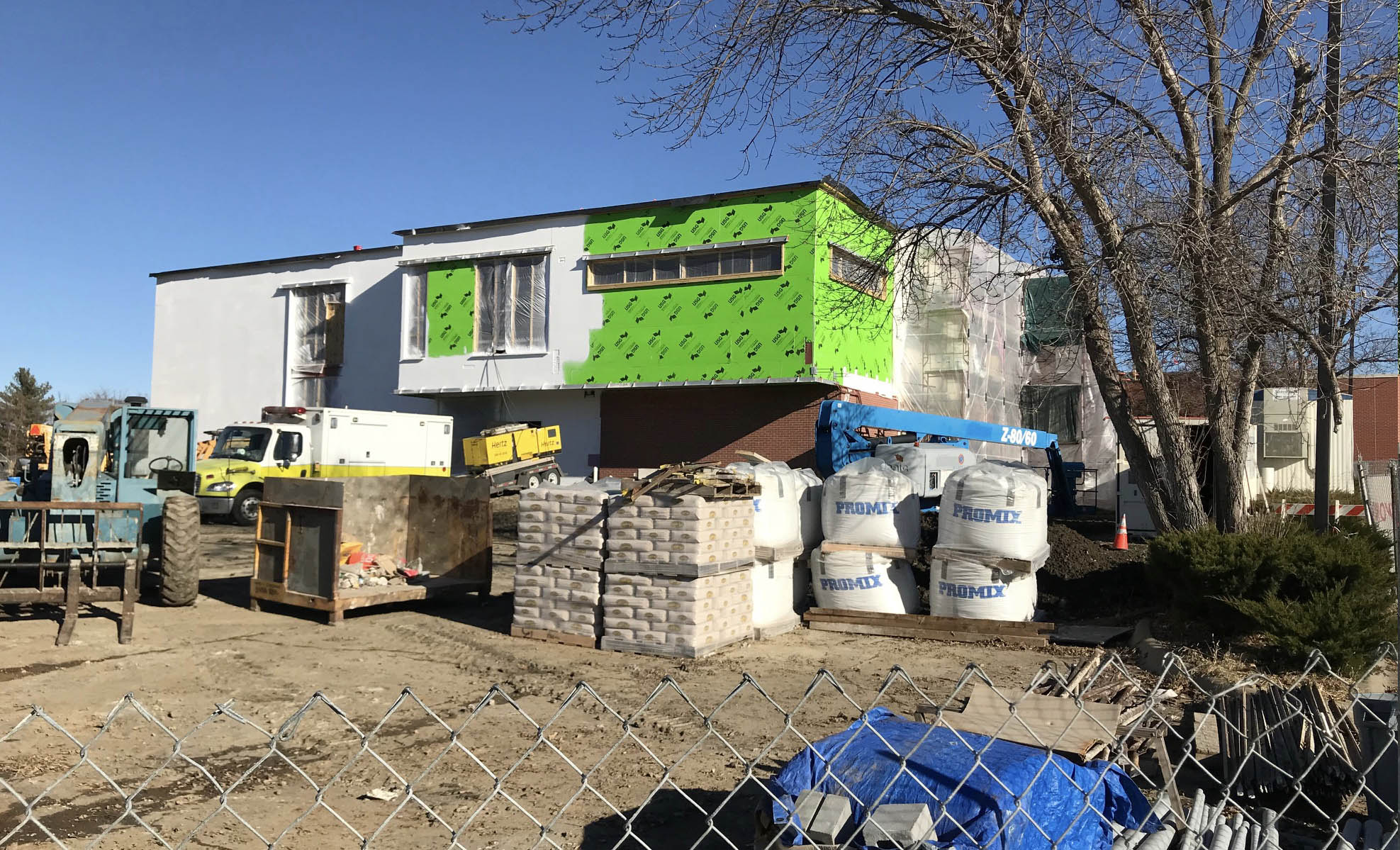 construction classroom addition december 2018