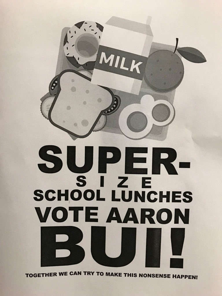 student election signs