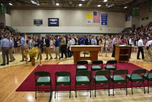 senior procession may crowning
