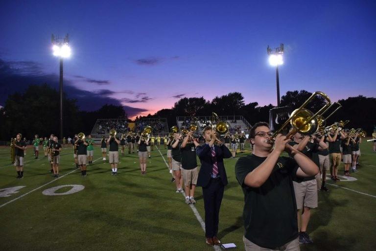 homecoming band campus