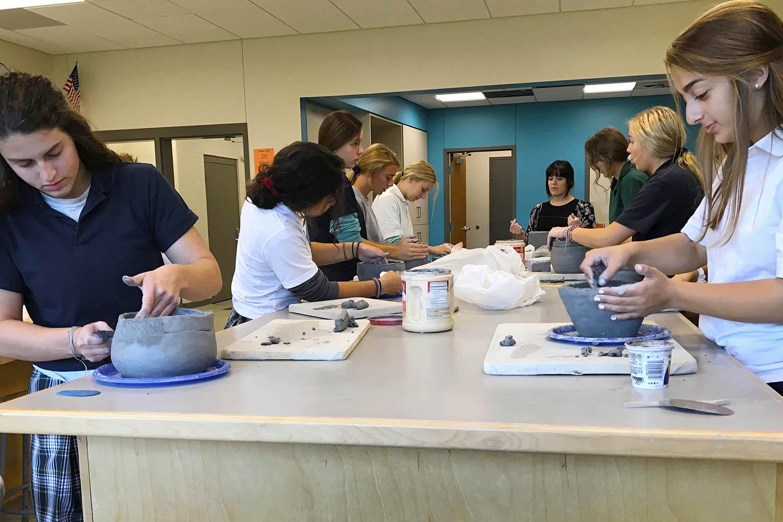 catholic schools week art class