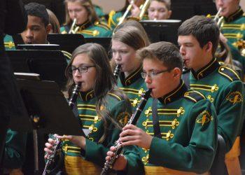 Thunderbolt concert band at Christmas concert