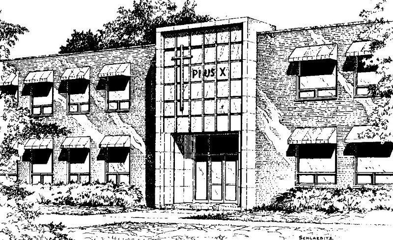 Pius X Building Sketch