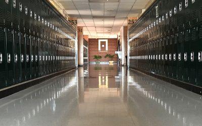 hallway at pius x high school